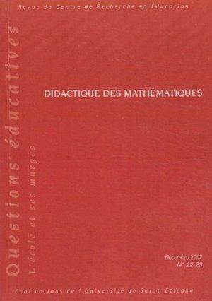 Didactiques des mathématiques - publications de l'universite de saint-etienne - 9782862722870 -