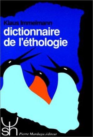 Dictionnaire de l'éthologie - mardaga - 9782870093887 -