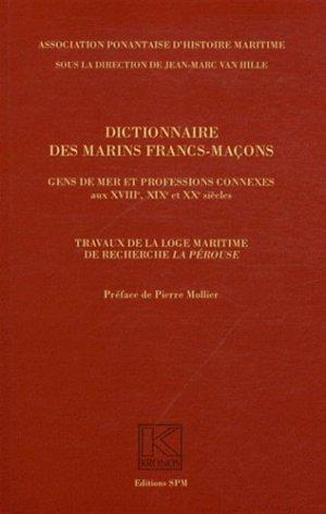 Dictionnaire des marins francs-maçons - spm lettrage - 9782901952817 -