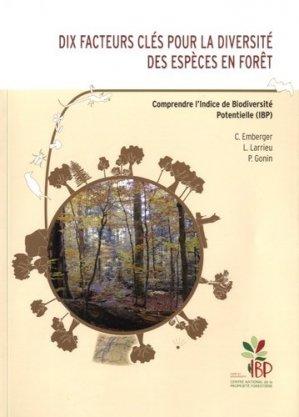Dix facteurs clés pour la diversité des espèces en forêt - Institut pour le Développement Forestier - 9782916525389 -