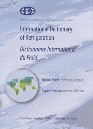 Dictionnaire international du froid - peeters-france - 9789042919976 -