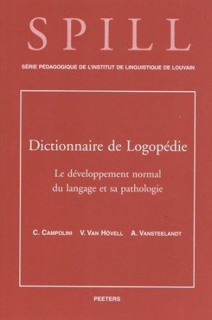Dictionnaire de logopédie - Peeters Leuven - 9789068318975 -