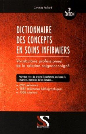 Dictionnaire des concepts en soins infirmiers - setes - 9791091515436 -