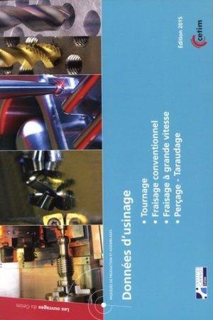 Données d'usinage - cetim - 9782368940778 -