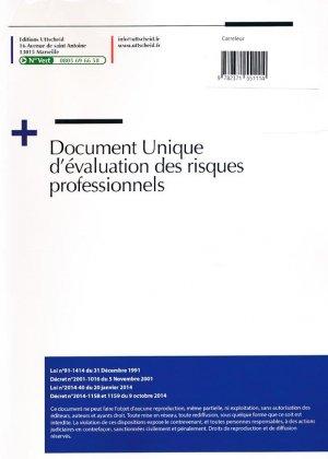 Document unique métier : Carreleur - Poseur carrelage - Version 2016 - uttscheid - 9782371551114 -