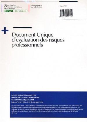 Document unique métier : Exploitant agricole - Agriculteur - Version 2016 - uttscheid - 9782371551312 -