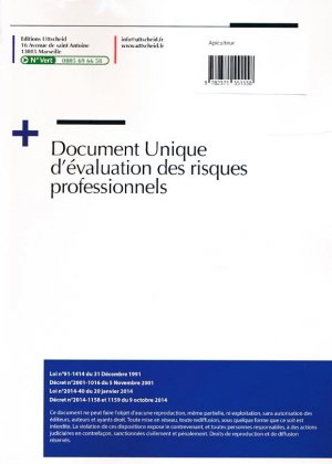 Document unique Métier : Apiculteur - Apiculture - Version 2016 - uttscheid - 9782371551558 -