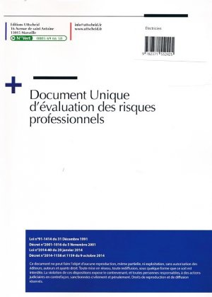 Document unique Métier : Electricien - Version 2016-uttscheid-9782371552425