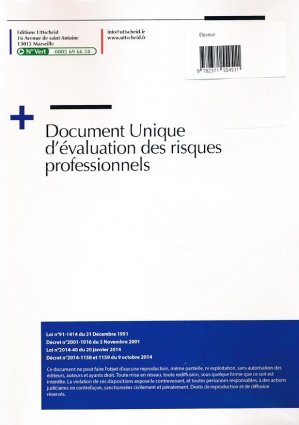 Document unique métier : Éleveur - Élevage - Version 2016 - uttscheid - 9782371554511 -