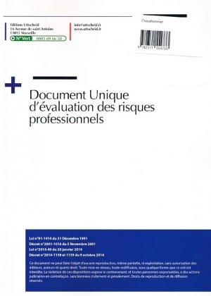 Document unique métier : Chaudronnier - Version 2016 - uttscheid - 9782371554733 -