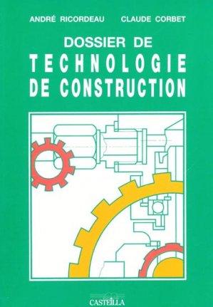 Dossier de technologie de construction - casteilla - 9782713529337