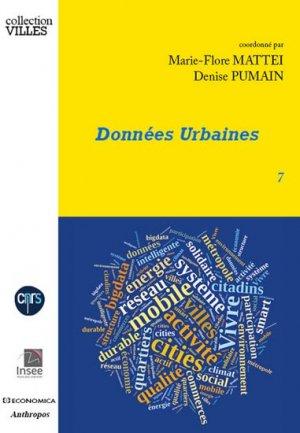Données urbaines 7 - economica anthropos - 9782717868388