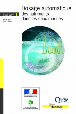 Dosage automatique des nutriments dans les eaux marines : méthodes en flux continu - quae - 9782759200238 -
