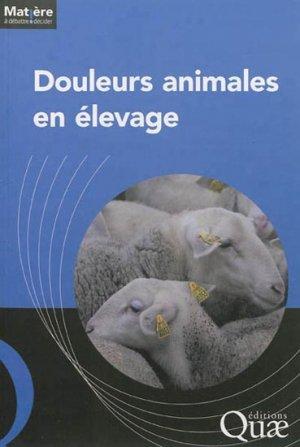Douleurs animales en élevage - quae  - 9782759218677 -
