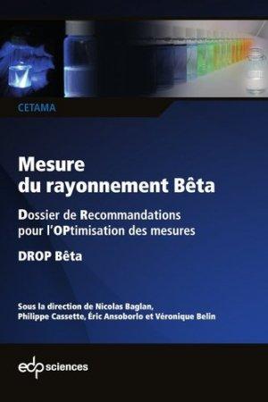 Mesures du rayonnement Bêta - edp sciences - 9782759823079 -