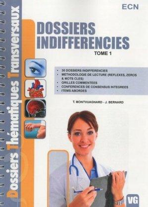 Dossiers indifférenciés Tome 1    ECN - vernazobres grego - 9782818300282 -