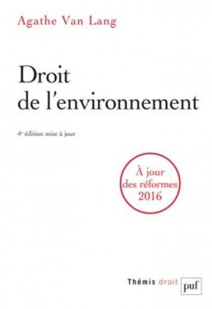 Droit de l'environnement. 4e édition - puf - presses universitaires de france - 9782130733560 -