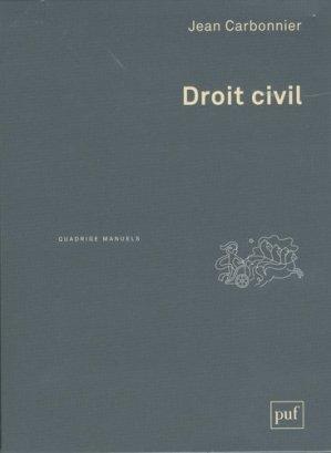 Droit civil. Coffret 2 tomes : Introduction, Les personnes, La famille, l'enfant, le couple ; Les biens, Les obligations, 2e édition - puf - 9782130786382 -