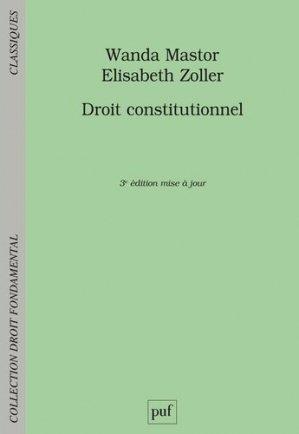 Droit constitutionnel - puf - presses universitaires de france - 9782130822882 -