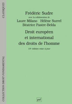 Droit européen et international des droits de l'homme - puf - presses universitaires de france - 9782130825487 -