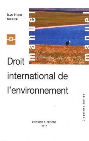 Droit international de l'environnement - pedone - 9782233008220 -