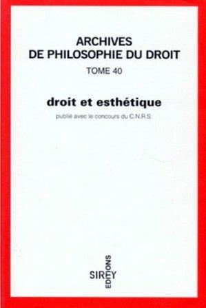 Droit et esthétique - dalloz - 9782247021987 -