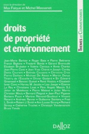 Droits de propriété et environnement - dalloz - 9782247029334 -
