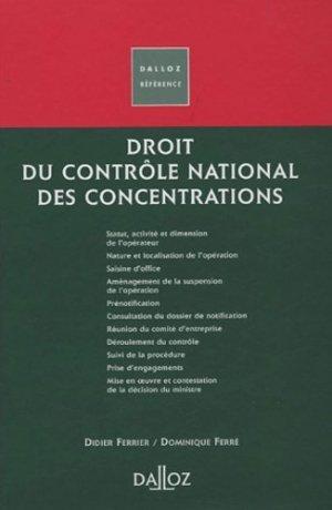 Droit du contrôle national des concentrations - dalloz - 9782247052448 -