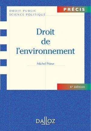 Droit de l'environnement. 6e édition - dalloz - 9782247075898 -