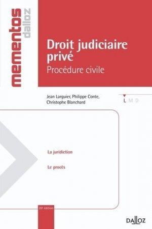Droit judiciaire privé. Procédure civile, 20e édition - dalloz - 9782247088997 -