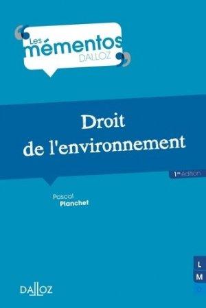 Droit de l'environnement - dalloz - 9782247139736 -