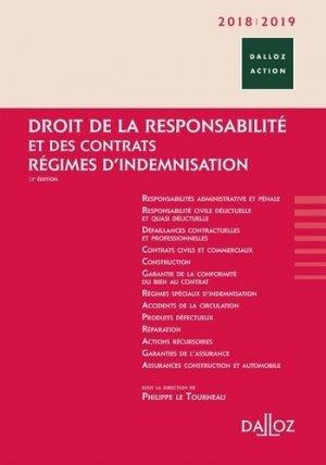 Droit de la responsabilité et des contrats, régimes d'indemnisation. Edition 2018-2019 - dalloz - 9782247160655 -