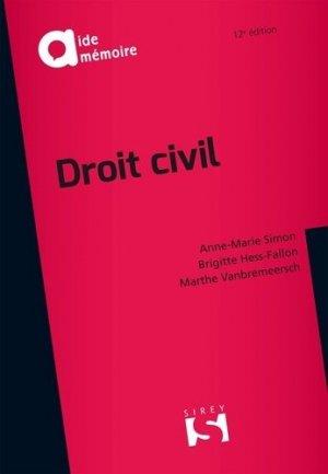 Droit civil. 12e édition - dalloz - 9782247169832 -
