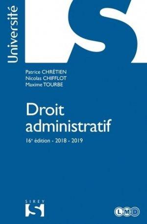 Droit administratif. Edition 2018-2019 - dalloz - 9782247178971 -