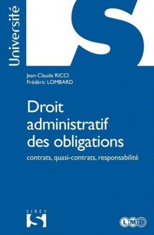 Droit administratif des obligations. Contrats, quasi-contrats, responsabilité - dalloz - 9782247181148 -