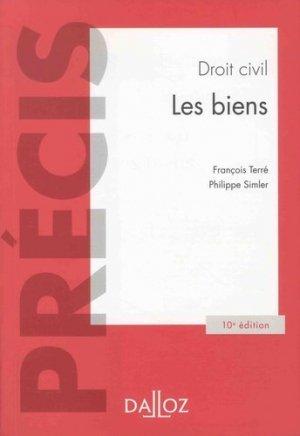 Droit civil. Les biens, 10e édition - dalloz - 9782247183630 -