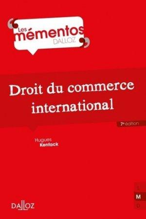 Droit du commerce international. 7e édition - dalloz - 9782247189281 -