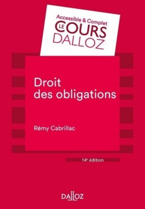 Droit des obligations. 14e édition - dalloz - 9782247198719 -
