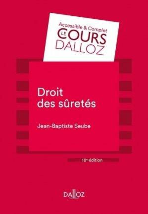 Droit des sûretés - 10e ed. - dalloz - 9782247199266 -