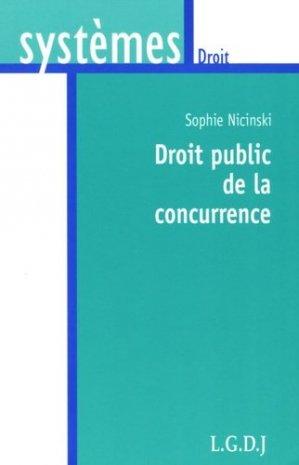 Droit public de la concurrence - LGDJ - 9782275026275 -