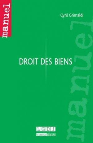 Droit des biens - LGDJ - 9782275036021 -