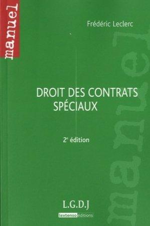 Droit des contrats spéciaux. 2e édition - LGDJ - 9782275036496 -