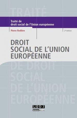 Droit social de l'Union européenne. 2e édition - LGDJ - 9782275038810 -