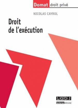 Droit de l'exécution - LGDJ - 9782275041254 -