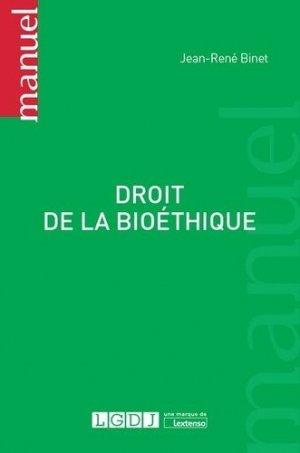 Droit de la bioéthique - lgdj - 9782275045467 -