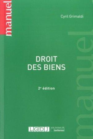 Droit des biens. 2e édition - LGDJ - 9782275054506 -