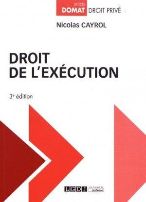 Droit de l'exécution. 3e édition - LGDJ - 9782275054766 -