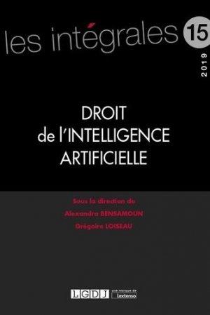 Droit de l'intelligence artificielle - LGDJ - 9782275065649 -