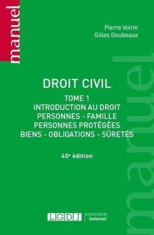 Droit civil tome 1, 40eme ed - LGDJ - 9782275075914 -