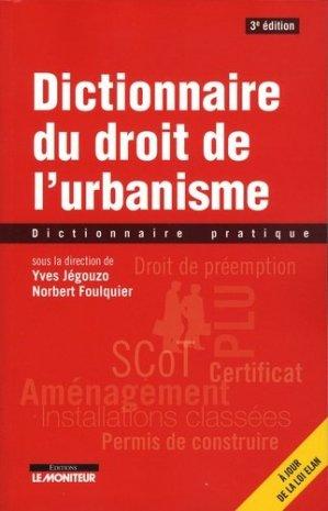 Droit de l'urbanisme - le moniteur - 9782281133141 -